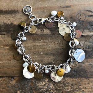 Silpada Sterling Silver, Copper & Pearl Bracelet